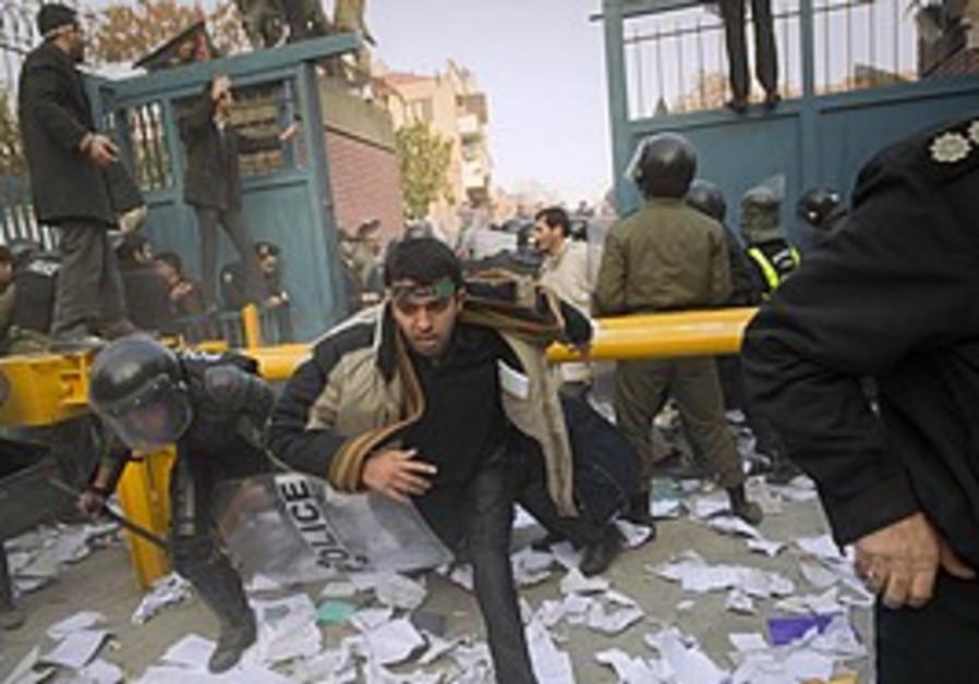 Storming of British embassy in Tehran in November 2011 which caused breakdown of diplomatic ties