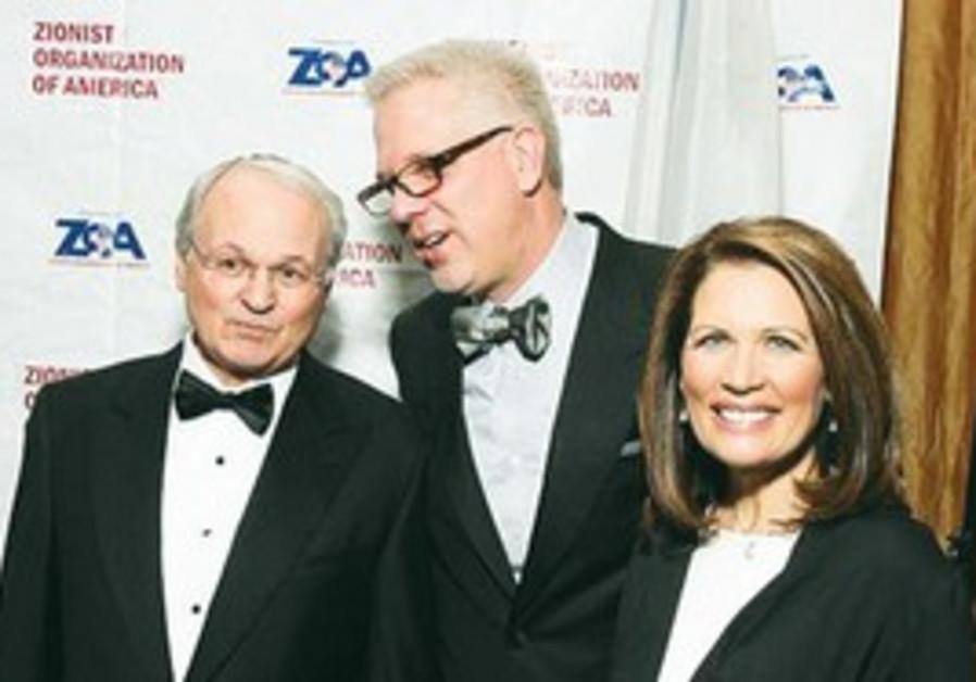 Mort Klein, Glenn Beck and Michele Bachmann.