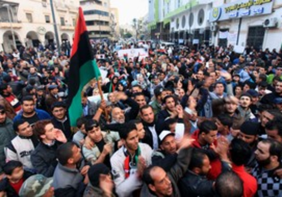 Libyans protest against NTC in Benghazi