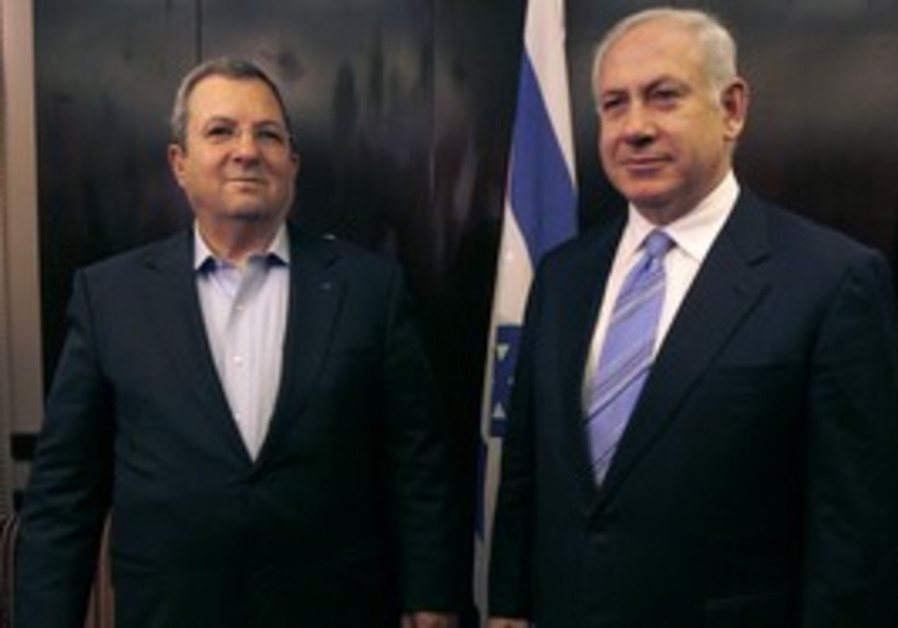 PM Netanyahu with Defense Minister Barak