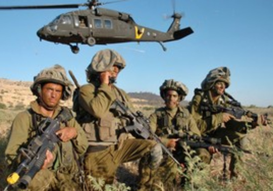 IDF special forces troops in training exercise