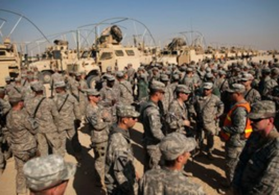 US soldiers leaving Iraq
