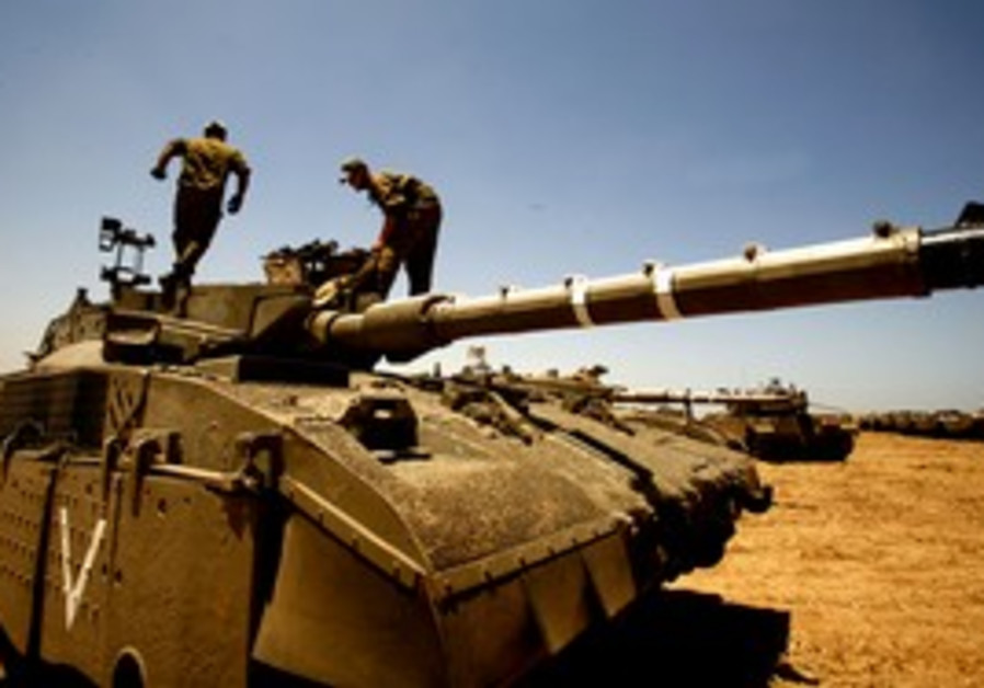IDF soldiers in the Mefalsim area of southern Israel.