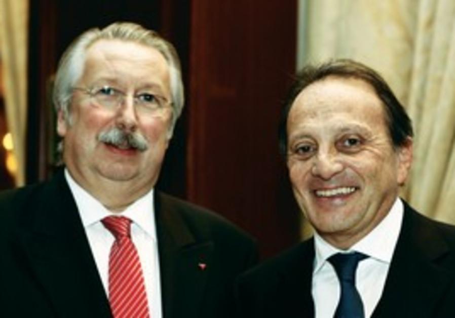André Flahaut and Prof. Maurice Sosnowski