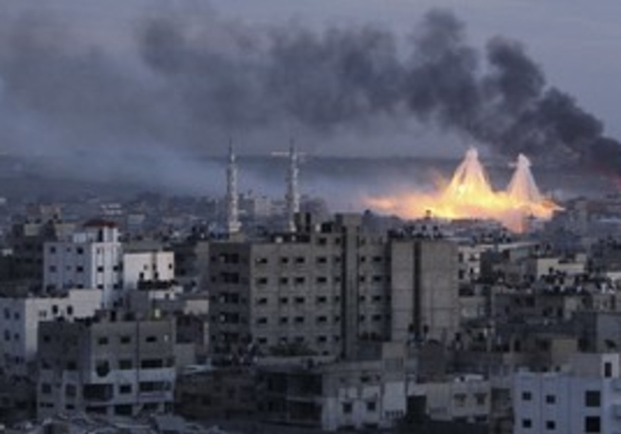 Smoke rises in Gaza during Operation Cast Lead