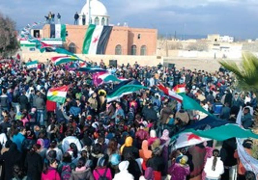 Syrian anti-Assad protest.