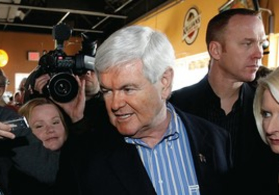 Newt Gingrich campaigns in Iowa