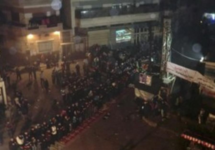 Syrian protest against Assad near Homs