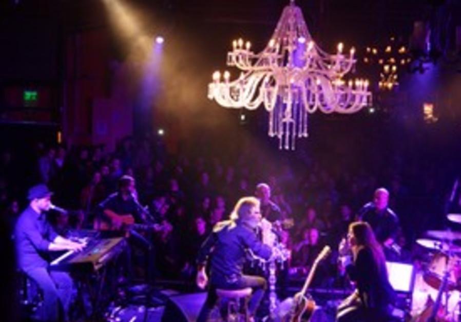 Rock band Mashina performing at Tel Aviv's Barby