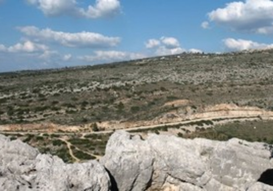 A road to Kibbutz Pelech will damage this area