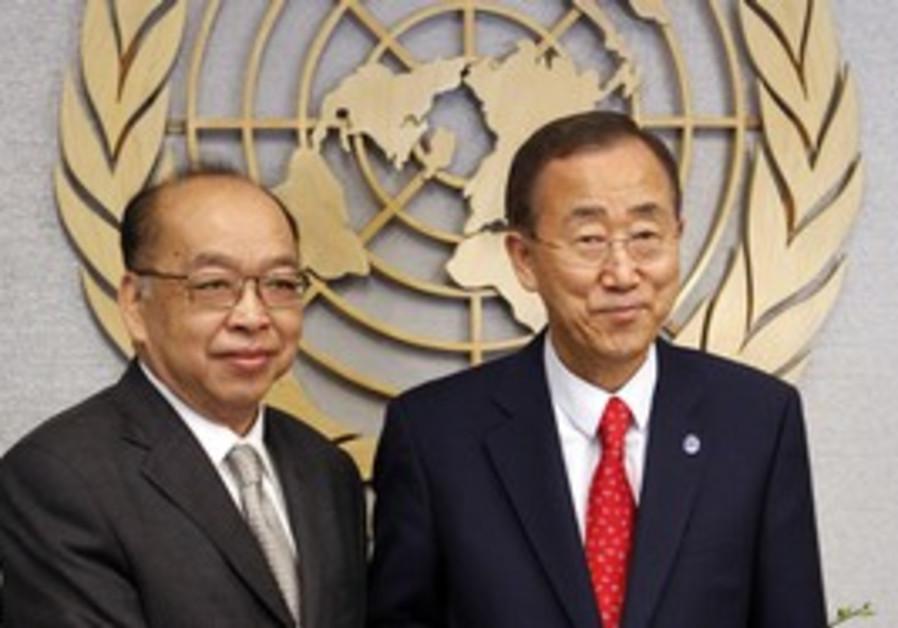 Thai Foreign Minister Tovichakchaikul, Ban-ki Moon