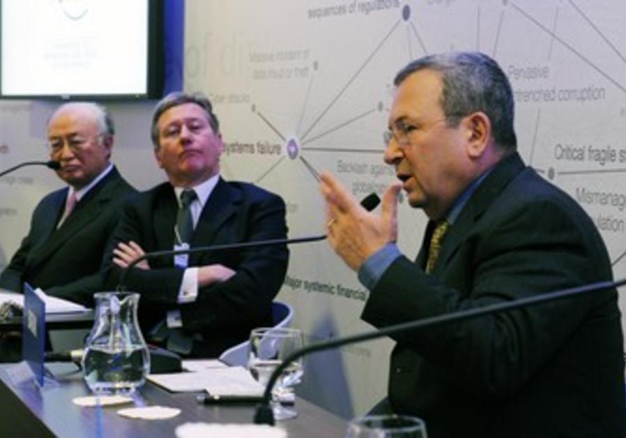 Defense minister Barak, IAEA chief Amano in Davos