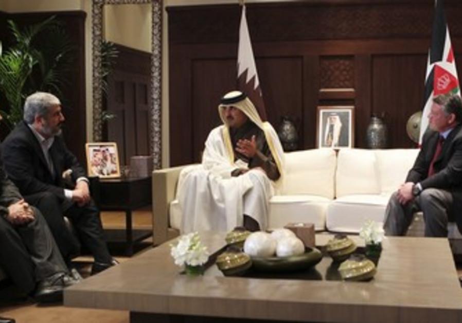 Mashaal, Qatar crown prince, King Abdullah