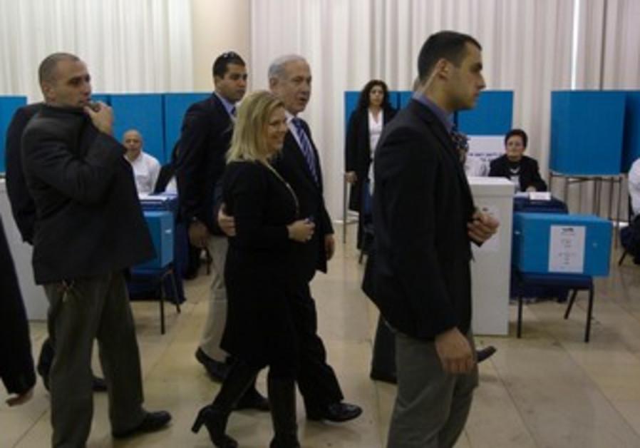 Netanyahu votes in Likud primary