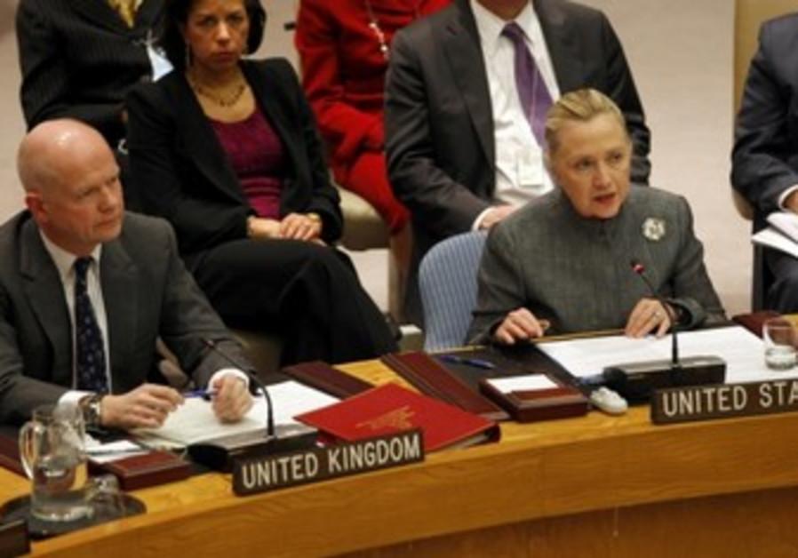 Clinton addresses UN Security Council