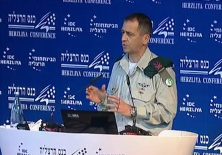 Aviv Kochavi speaking at Herzliya conference
