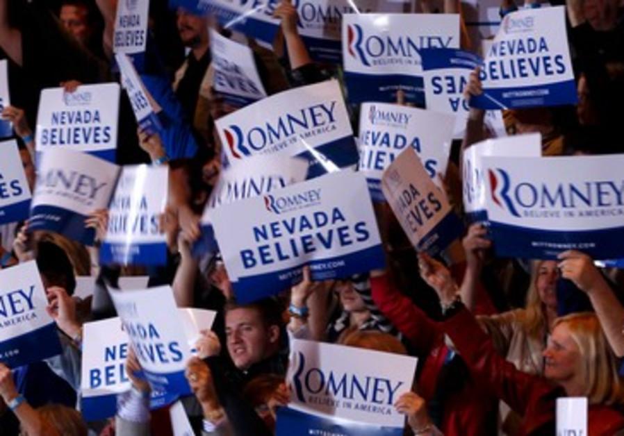 Supporters of Mitt Romney in Nevada