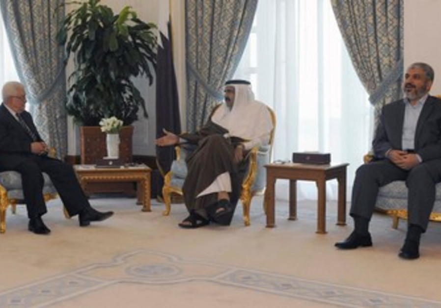 PA President Abbas, Hamas chief Mashaal in Qatar