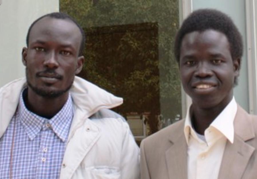 Gabriel (L), William (R), S.Sudanese students