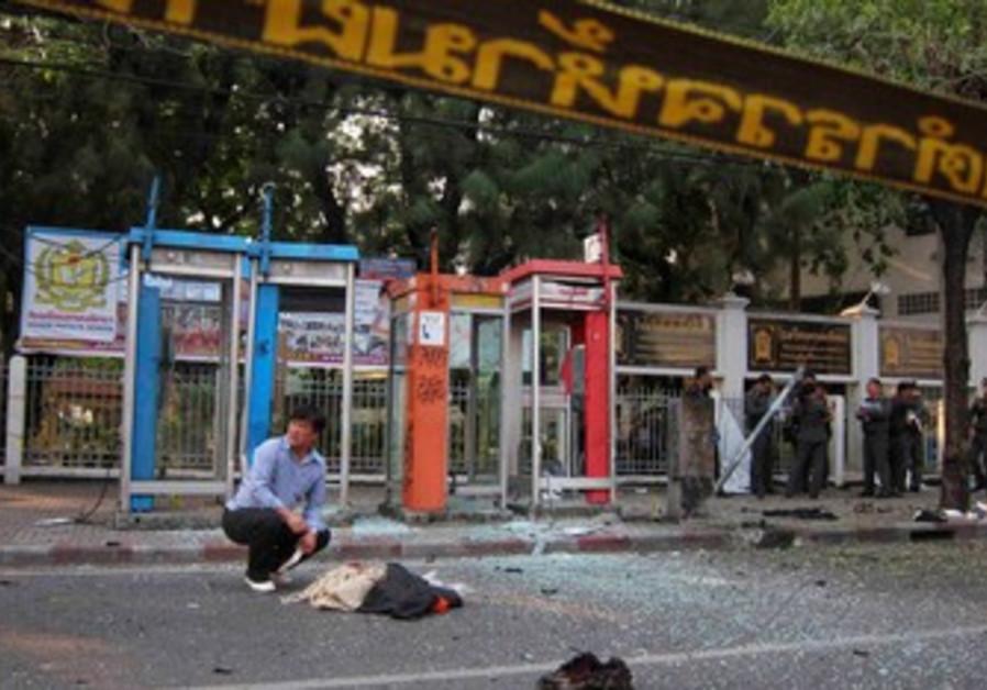 Thai police investigate site of bombing in Bangkok