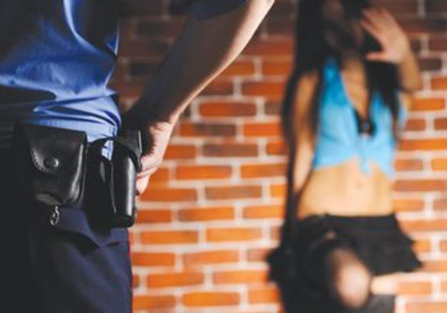 Prostitute and police [illustrative photo]