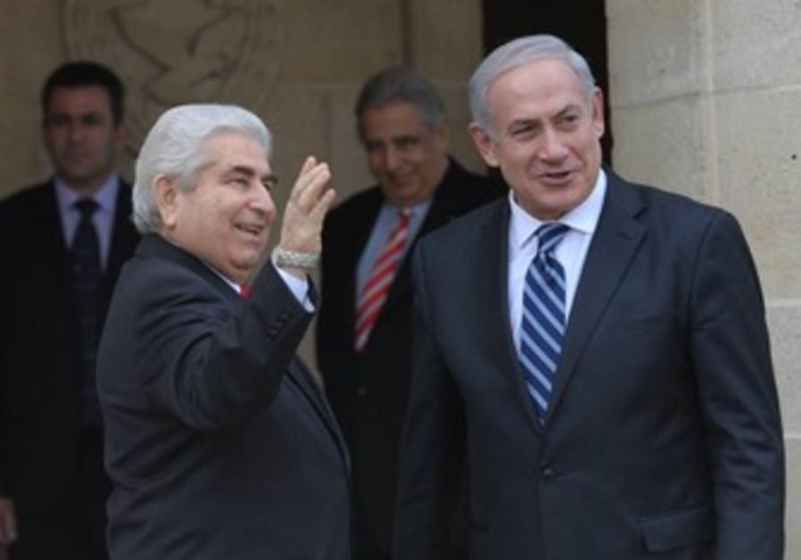 PM Netanyahu with Cyprus' Christofias