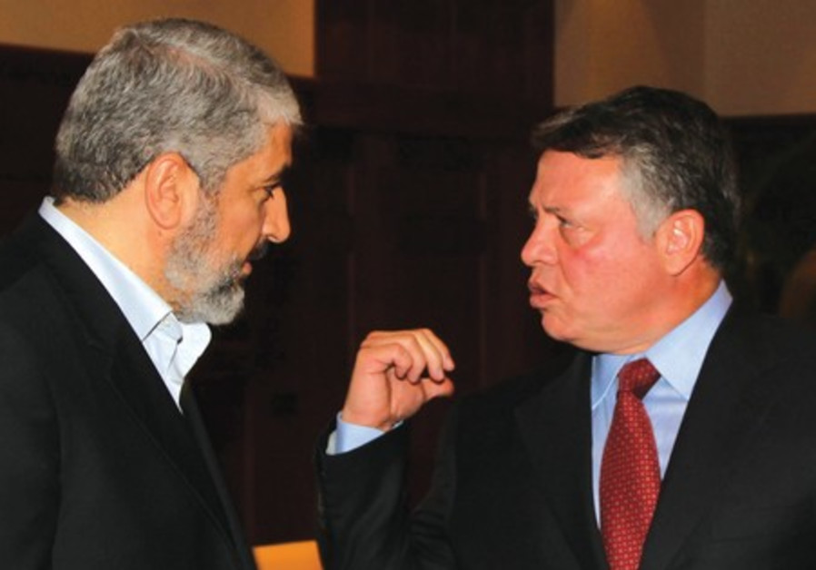 Hamas leader Mashaal meets Jordan's King  Abdullah