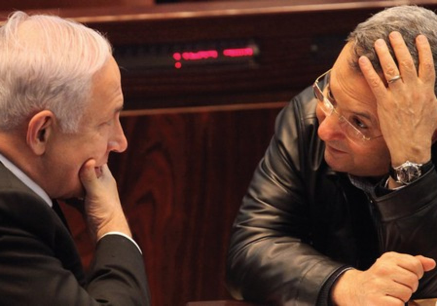 PM Netanyahu with Defense Minister Barak