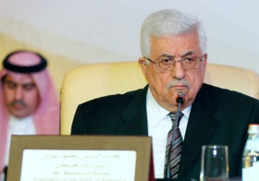 PA President Abbas at Doha conference on J'lem