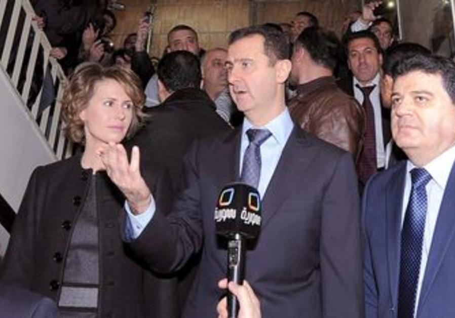 Syrian President Bashar Assad at polling station
