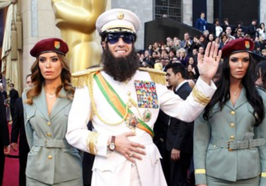 Sacha Baron Cohen in 'Dictator' costume, Oscars