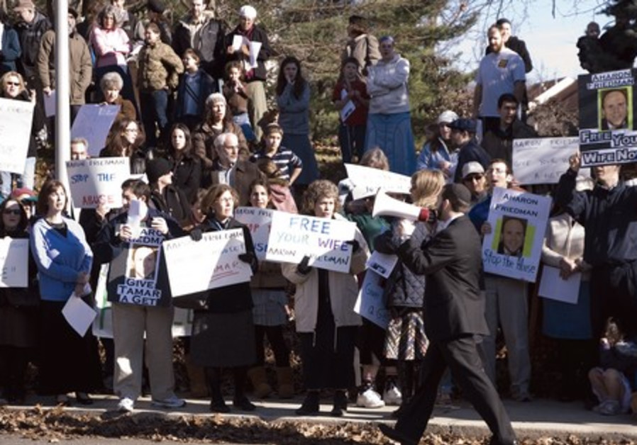 Protests in Washington for Tamar Epstein