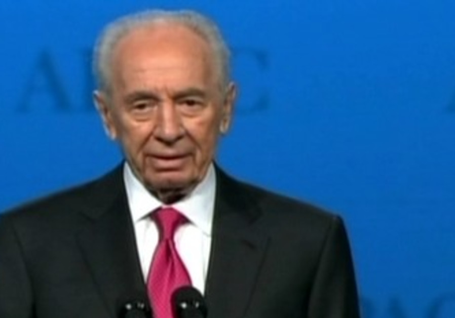 President Shimon Peres at AIPAC Conference