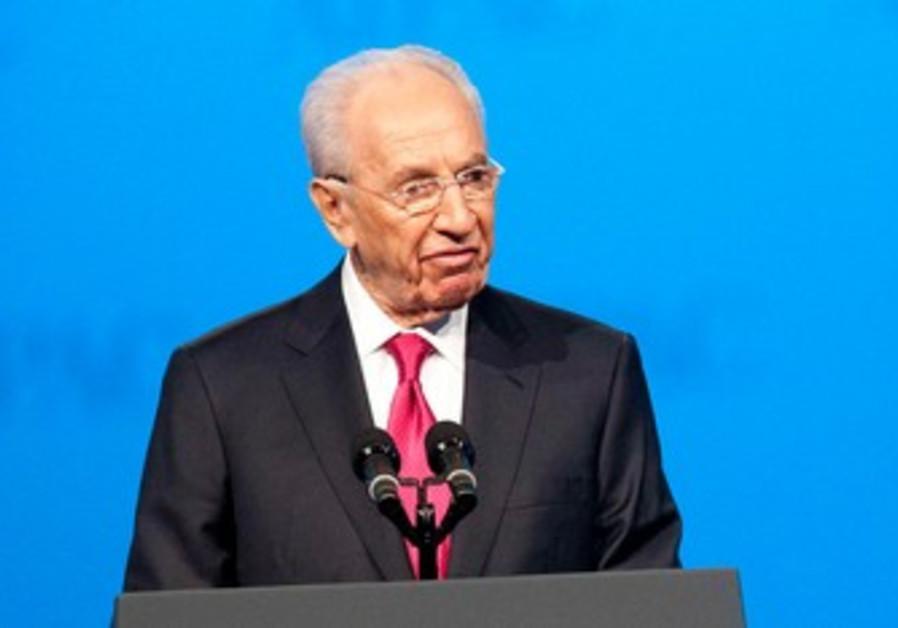 President Shimon Peres at AIPAC Conference