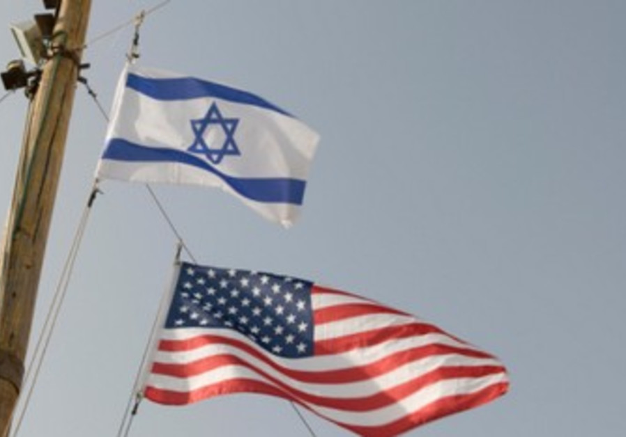 US and Israeli flags