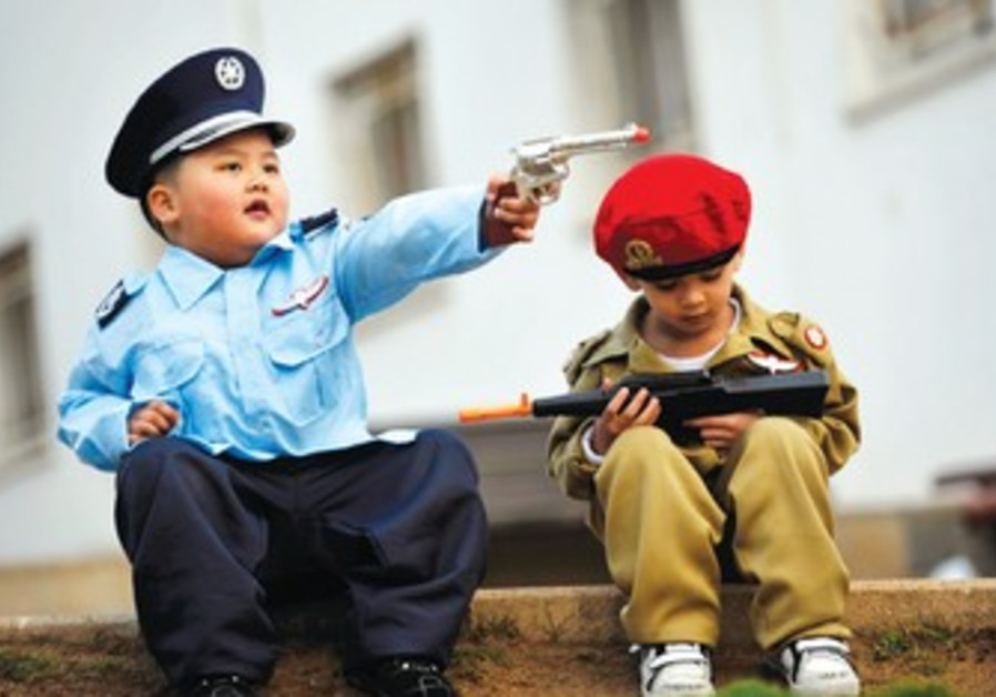 Children of foreign workers on Purim