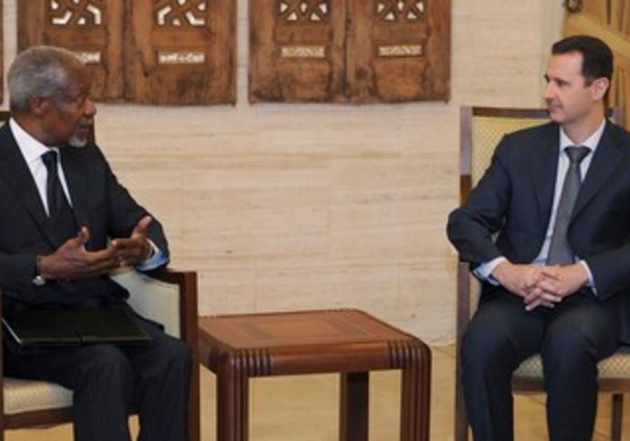 Assad meets UN-Arab League envoy Kofi Annan