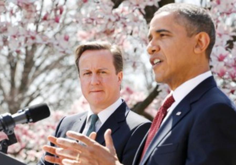 US President Barack Obama, UK PM David Cameron