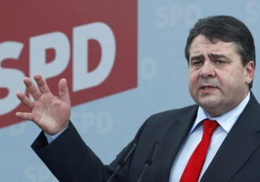 German SDP head Sigmar Gabriel