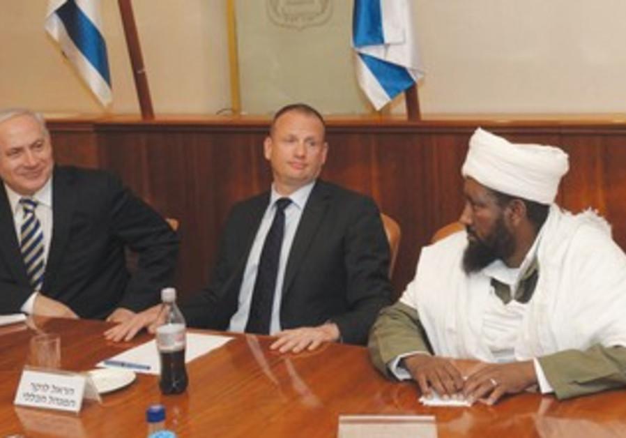 Netanyahu meets with Ethiopian community leaders