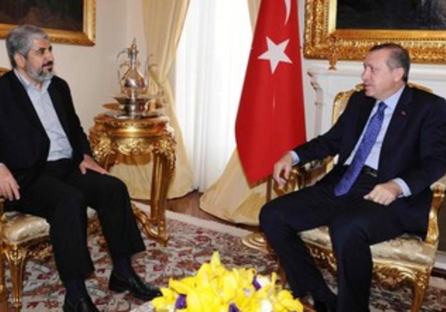Mashaal and Erdogan meet in Ankara