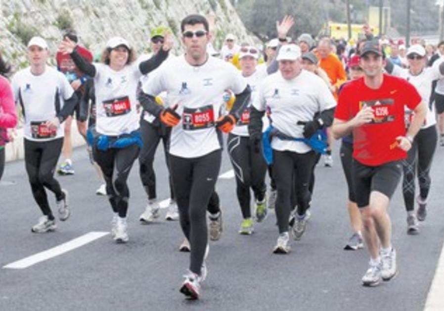 j'lem marathon, at jaffa gate