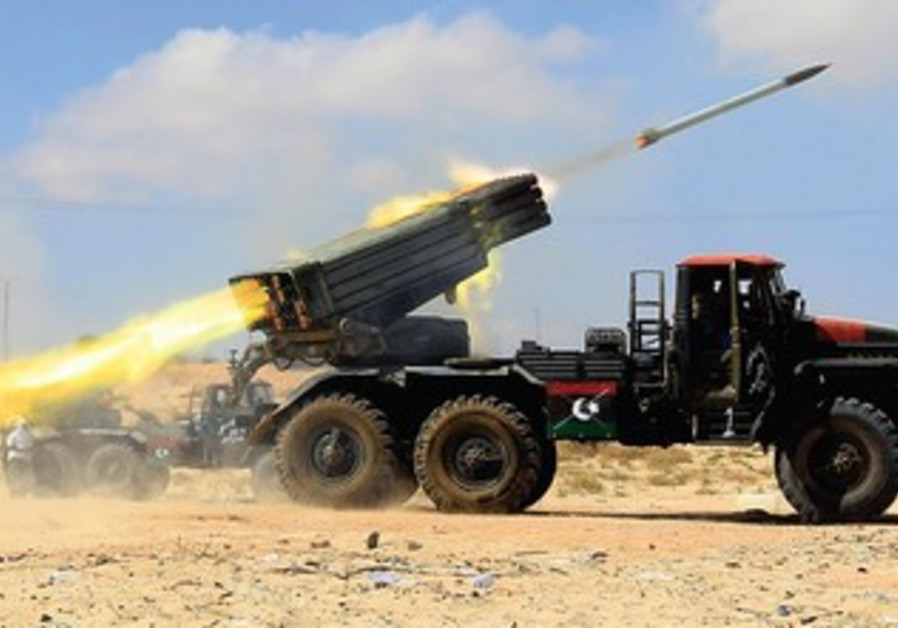 Libyan Grad rocket (illustrative)
