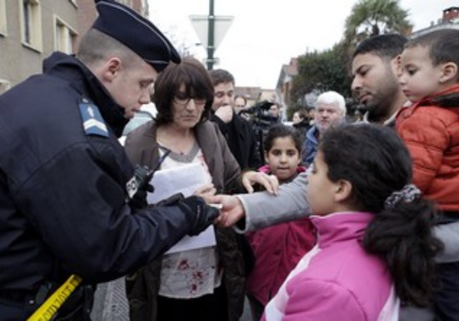 Police check identity papers of Toulouse residents