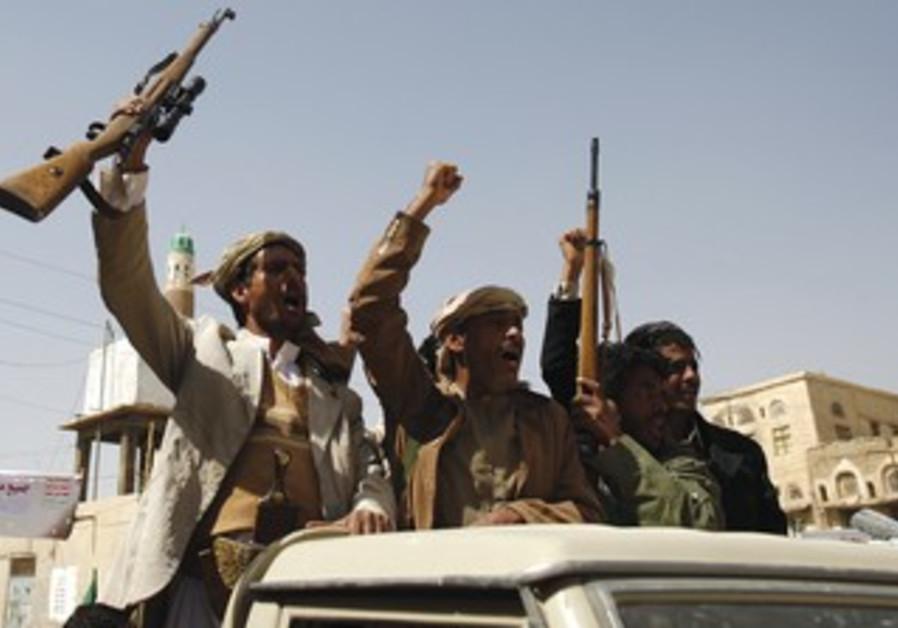 HOUTHI SHI'ITE rebels in Yemen