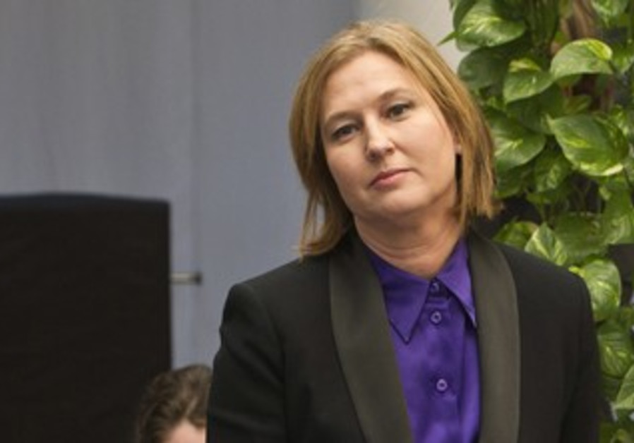 Former Kadima leader Tzipi Livni