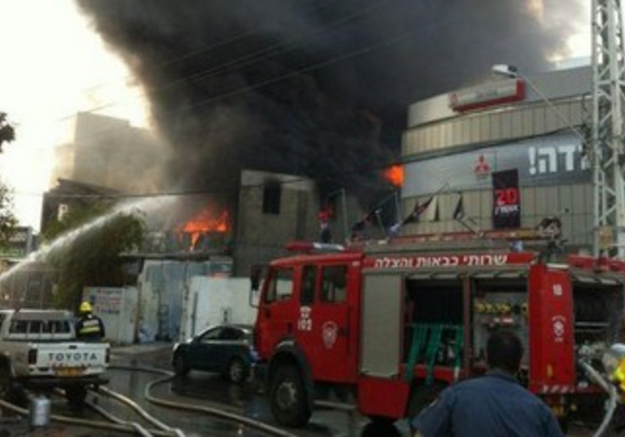 Fire at Ra'anana factory