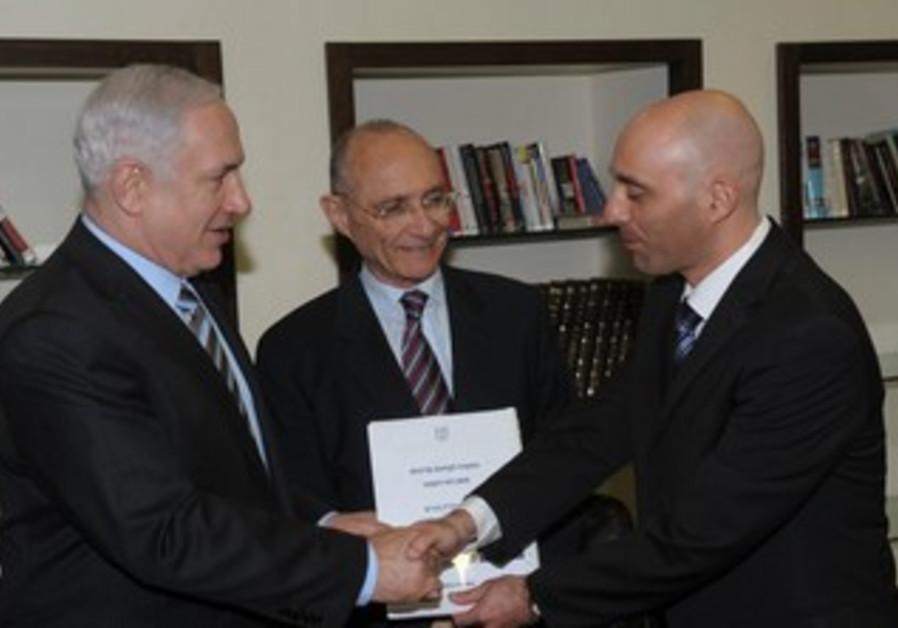 Netanyahu, Landau recieve natural gas report
