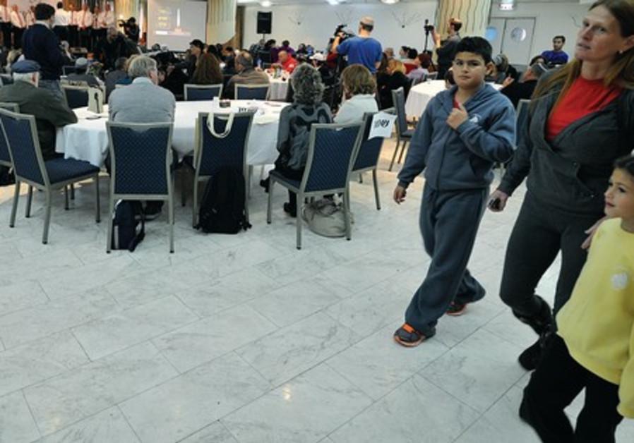 Victims, families at Park Hotel, Netanya