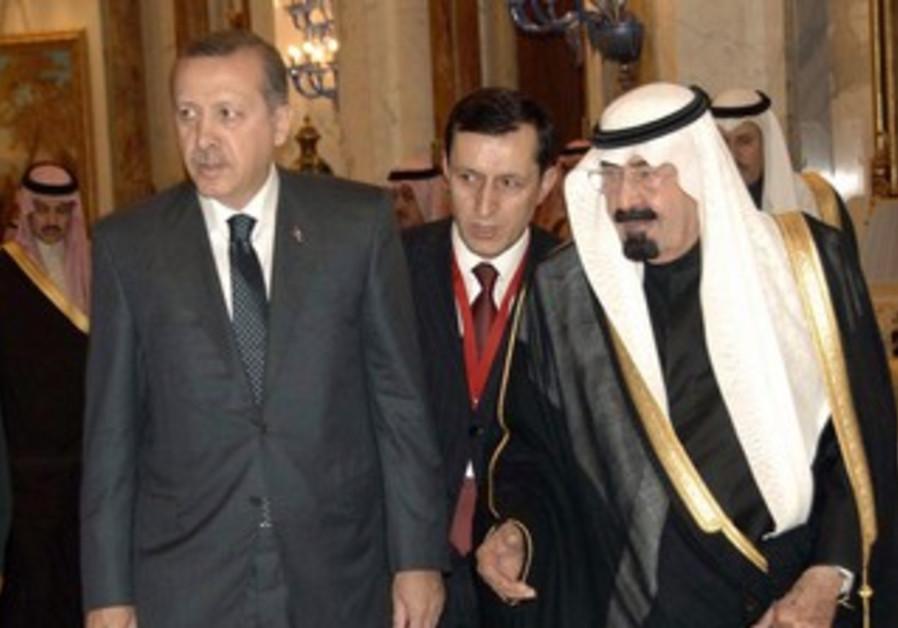 Turkish PM Erdogan and Saudi King Abdullah [file]